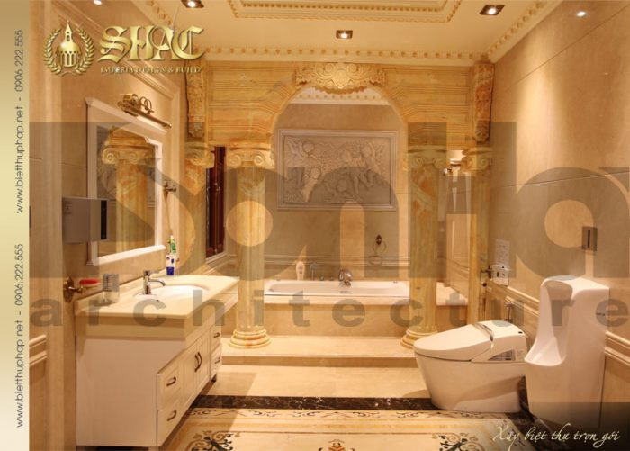 20 Thiết kế nội thất wc biệt thự lâu đài tại hà nội sh btld 0010