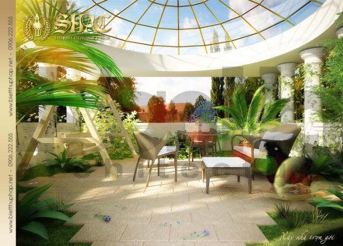 20 Thiết kế tiểu cảnh sân vườn biệt thự lâu đài tại hải phòng sh btld 0005