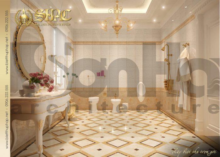 22 Mẫu nội thât phòng tắm wc biệt thự lâu đài tại nha trang sh btld 0013