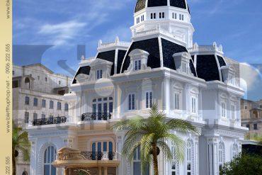 3 Thiết kế kiến trúc biệt thự lâu đài tại nha trang sh btld 0013