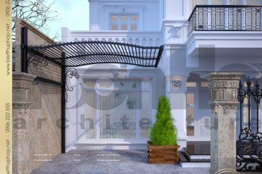 3 Thiết kế kiến trúc biệt thự tân cổ điển tại hà nội sh btcd 0012
