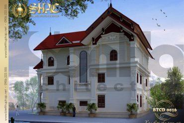 3 Thiết kế kiến trúc biệt thự tân cổ điển tại hải phòng