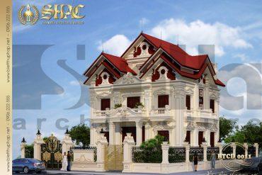3 Thiết kế kiến trúc biệt thự tân cổ điển tại hải phòng sh btcd 0011