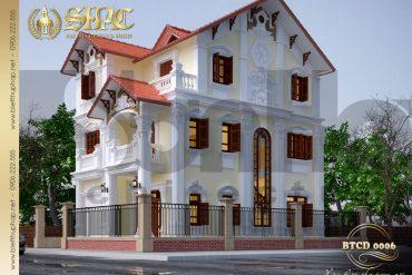 3 Thiết kế kiến trúc biệt thự tân cổ điển tại quảng ninh sh btcd 0006