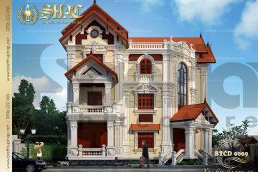 3 Thiết kế kiến trúc biệt thự tân cổ điển tại quảng ninh sh btcd 0009