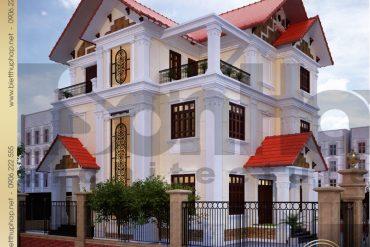 3 Thiết kế kiến trúc biệt thự tân cổ điển tại thanh hóa sh btcd 0005