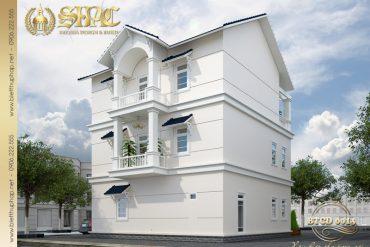 3 Thiết kế kiến trúc mặt sau biệt thự tân cổ điển tại quảng ninh sh btcd 0013