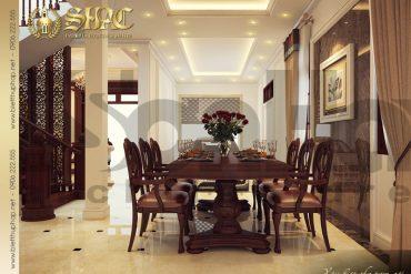 3 Thiết kế nội thất phòng ăn biệt thự pháp tại quảng ninh sh btp 0011