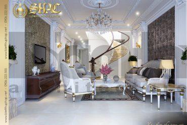 3 Thiết kế nội thất phòng khách 1 biệt thự lâu đài tại hà nam sh btld 0009