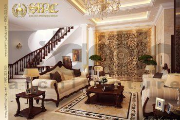 3 Thiết kế nội thất phòng khách bếp biệt thự tân cổ điển tại hà nội sh btcd 0004