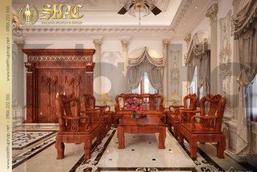 3 Thiết kế nội thất phòng khách biệt thự lâu đài tại hải phòng sh btld 0014