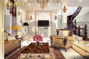 3 Thiết kế nội thất phòng khách biệt thự lâu đài tại vĩnh phúc sh btld 0008