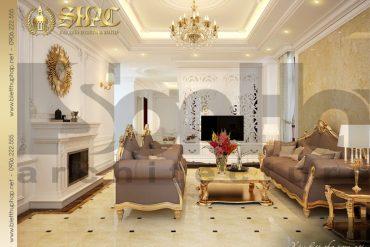 3 Thiết kế nội thất phòng khách biệt thự pháp tại hải dương sh btp 0010