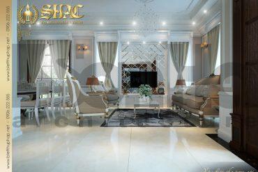 3.Thiết kế nội thất phòng khách biệt thự pháp tại quảng ninh SH BTP 0005
