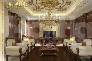 3.Thiết kế nội thất phòng khách cổ điển tại sài gòn SH BTP 0019