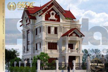 4 Mẫu kiến trúc biệt thự tân cổ điển tại lạng sơn sh btcd 0014