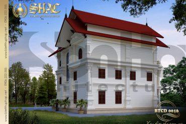 4 Mẫu kiến trúc mặt sau biệt thự tân cổ điển tại hải phòng sh btcd 0016