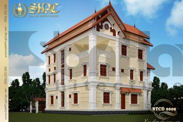 4 Mẫu kiến trúc mặt sau biệt thự tân cổ điển tại quảng ninh sh btcd 0009