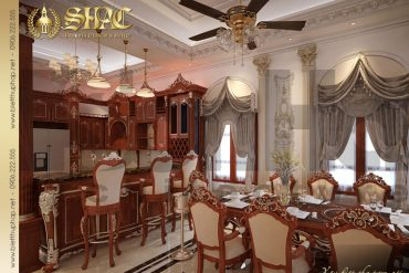 4 Mẫu nội thất phòng bếp ăn biệt thự lâu đài tại hải phòng sh btld 0014