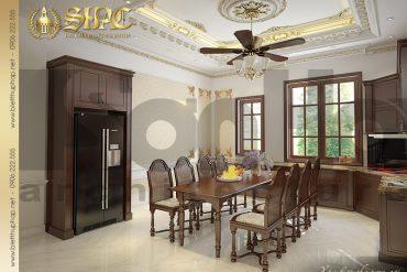 4.Mẫu nội thất phòng bếp ăn cổ điển tại sài gòn SH BTP 0019
