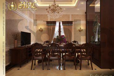 4 Mẫu nội thất phòng khách bếp biệt thự tân cổ điển tại hà nội sh btcd 0004