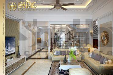 4 Mẫu nội thất phòng khách biệt thự tân cổ điển tại quảng ninh sh btcd 0006