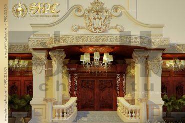 4 Mẫu nội thất sảnh biệt thự pháp cổ tại quảng ninh sh btp 0017
