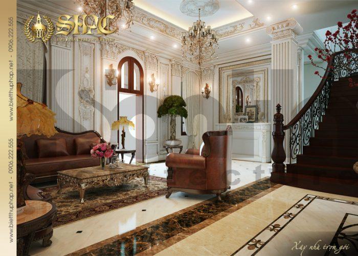4 Mẫu nội thất sảnh tầng 1 biệt thự lâu đài tại vĩnh phúc sh btld 0008