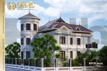 4 Thiết kế kiến trúc biệt thự tân cổ điển tại quảng bình sh btcd 0010