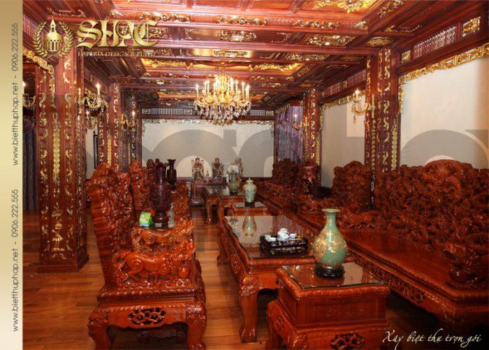 4 Thiết kế nội thất phòng khách biệt thự lâu đài tại hà nội sh btld 0010