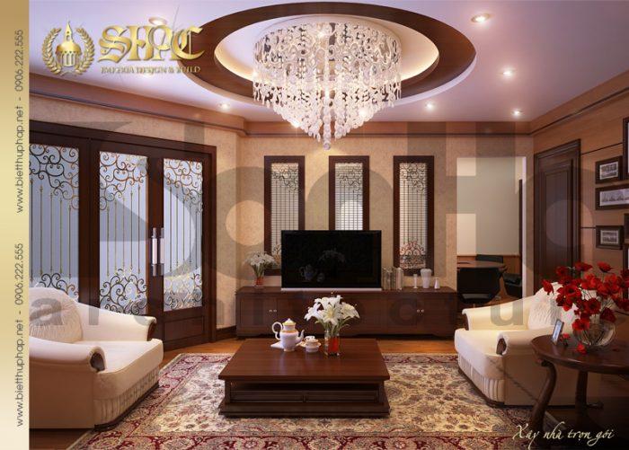 4 Thiết kế nội thất phòng khách biệt thự lâu đài tại hải phòng sh btld 0005