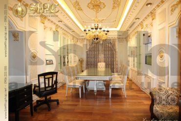 5 Mẫu nội thất phòng ăn biệt thự lâu đài tại hà nội sh btld 0010