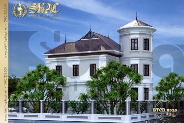 5 Phối cảnh phía sau biệt thự tân cổ điển tại quảng bình sh btcd 0010