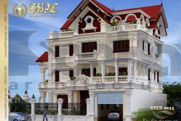 5 Thiết kế kiến trúc biệt thự tân cổ điển tại lạng sơn sh btcd 0014