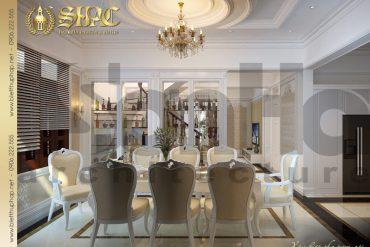 5 Thiết kế nội thất phòng bếp ăn biệt thự tân cổ điển tại quảng ninh sh btcd 0006