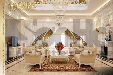 5 Thiết kế nội thất phòng khách biệt thự lâu đài tại nha trang sh btld 0013
