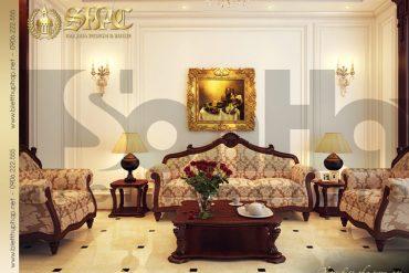 5 Thiết kế nội thất phòng khách biệt thự pháp tại quảng ninh sh btp 0011