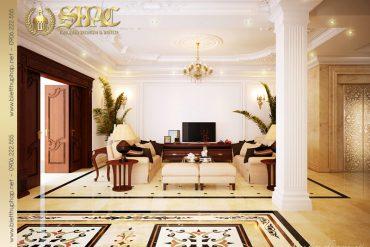 5 Thiết kế nội thất phòng khách biệt thự tân cổ điển tại hà nội sh btcd 0003