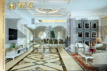 5 Thiết kế nội thất phòng khách biệt thự tân cổ điển tại hà nội sh btcd 0012