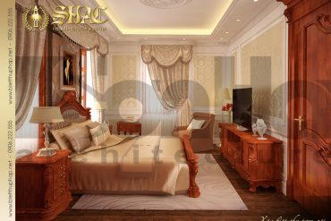 5 Thiết kế nội thất phòng ngủ 1 biệt thự lâu đài tại hải phòng sh btld 0014