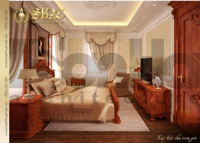 Thiết kế nội thất phòng ngủ biệt thự lâu đài tại Hải Phòng mang lại ý tưởng độc đáo