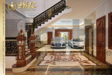 5 Thiết kế nội thất sảnh tầng 1 biệt thự lâu đài tại thái bình sh btld 0015
