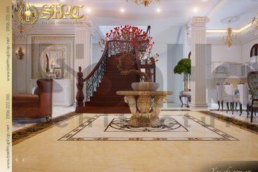 5 Thiết kế nội thất sảnh tầng 1 biệt thự lâu đài tai vĩnh phúc sh btld 0008