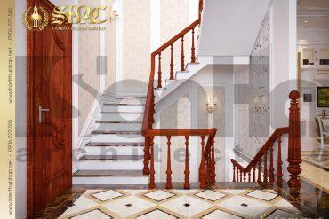 5.Thiết kế nội thất sảnh thang biệt thự pháp cổ điển tại quảng ninh SH BTP 0020