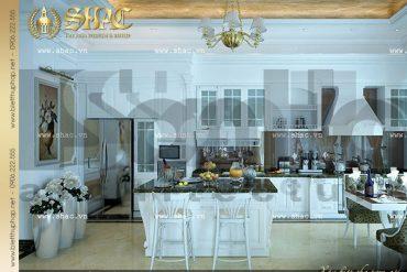 6 Mẫu nội thất phòng bếp biệt thự tân cổ điển tại hà nội sh btcd 0012