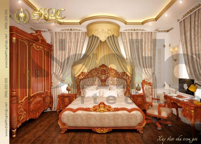 Mẫu nội thất phòng ngủ phong cách cổ điển pháp được đánh giá cao ấn tượng
