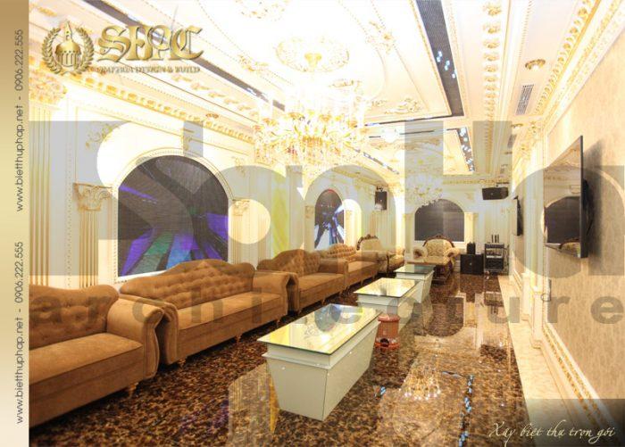 6 Thiết kế nội thất phòng hát biệt thự lâu đài tại hà nội sh btld 0010