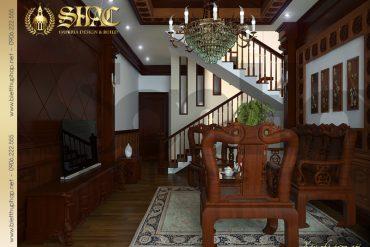 6 Thiết kế nội thất phòng khách gia đình biệt thự lâu đài tại hải phòng sh btld 0005