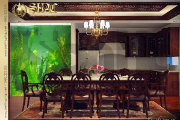 7 Mẫu thiết kế nội thất phòng bếp biệt thự lâu đài tại hải phòng