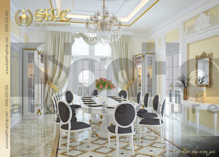 7 Thiết kế nội thất phòng ăn biệt thự lâu đài tại nha trang sh btld 0013